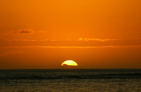 Ala Moan Beach Sunset