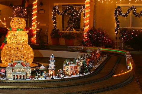 Candy Cane Lane Train