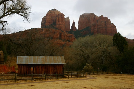 Red Rocks with Barn