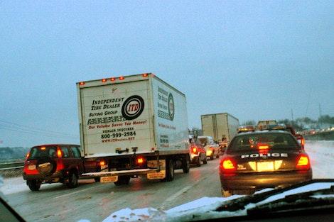 Stuck in KC Traffic