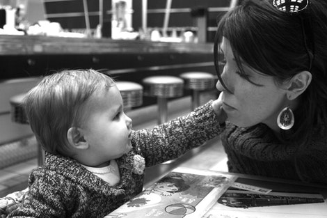 Trella and her Valentine, Mom