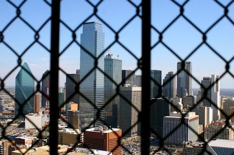 Fenced-in Dallas Skyline