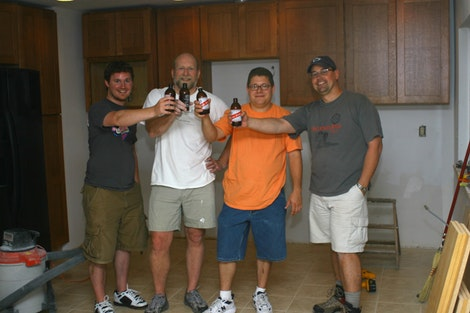 Cheers!  Cabinets Installed