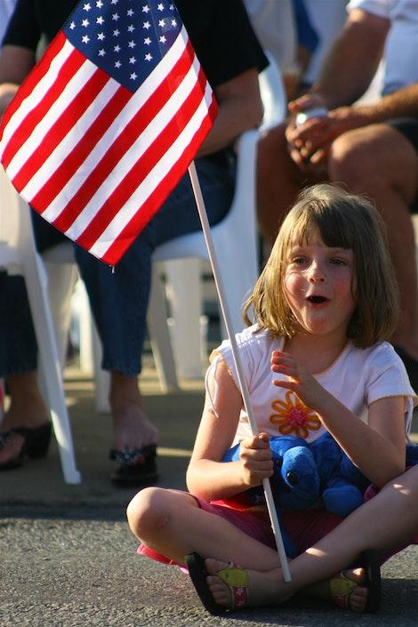 USA Flag Girl