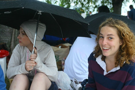 Shannon and Katie Stayin' Dry