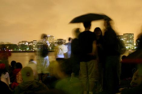 Umbrella Along the Charles