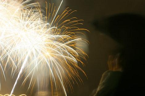 Boston Fireworks Couple