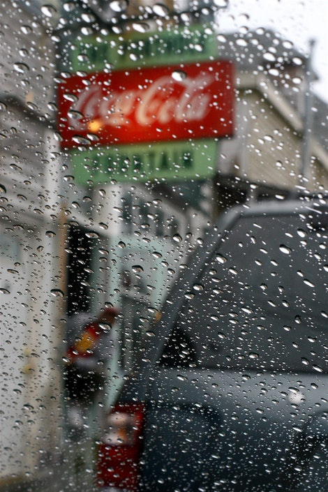 Rainy Coca-Cola