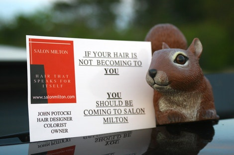 Salon Milton Mascot