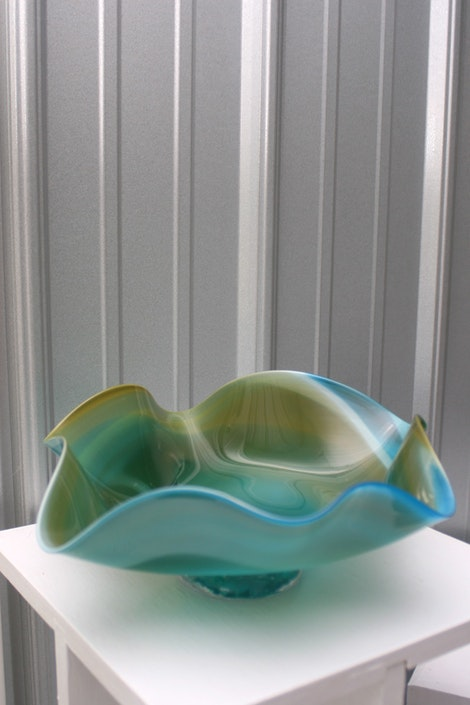 Blue Glass Ripple