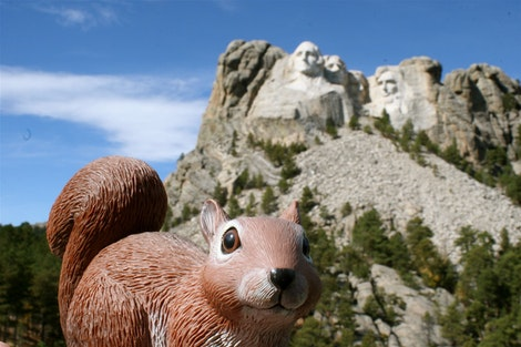Rice at Mount Rushmore