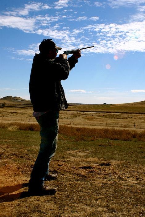Lester Shooting Skeet