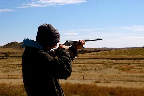 Carsten Shooting Skeet