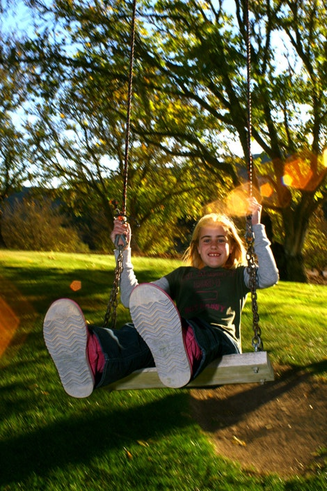 Elise on the Swing