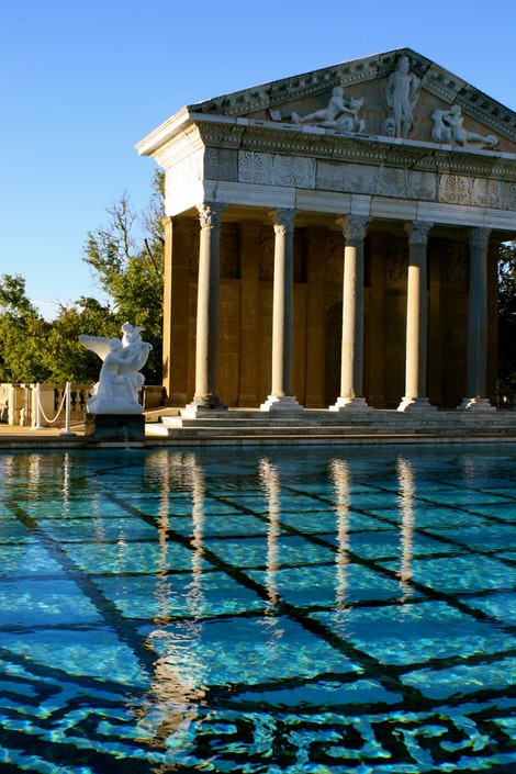 Oval Pool at Hearst Castle