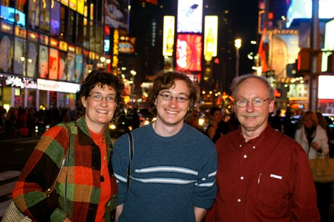 Family at Times Sqaure