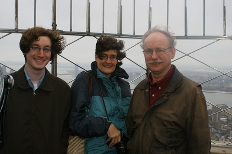 Family at the Empire State Building