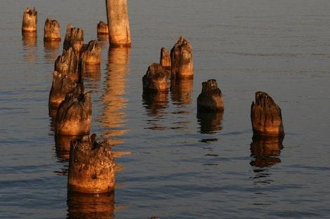 Along the Baraga Marina